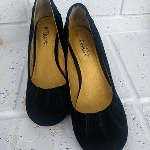 {Seychelles} wedge black heels